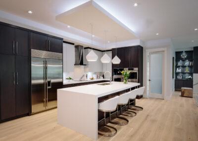 Alexandra Interiors contemporary custom kitchen design. Interior design Vancouver