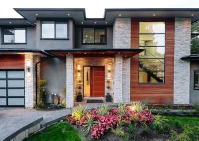 Alexandra Interiors contemporary Vancouver home exterior. Interior design Vancouver