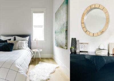 Alexandra Interiors luxurious contemporary bedroom minimal design. Interior design Vancouver