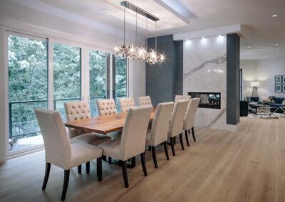 Alexandra Interiors contemporary dining room. Interior design Vancouver