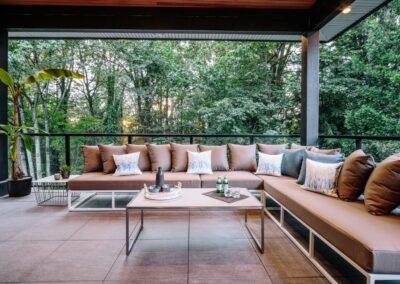 Contemporary West Coast Patio Design by Alexandra Interiors